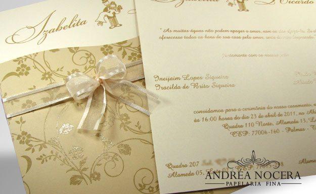 Convite de Casamento cor Sépia