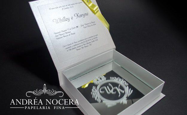 Convite de casamento especial com espelho