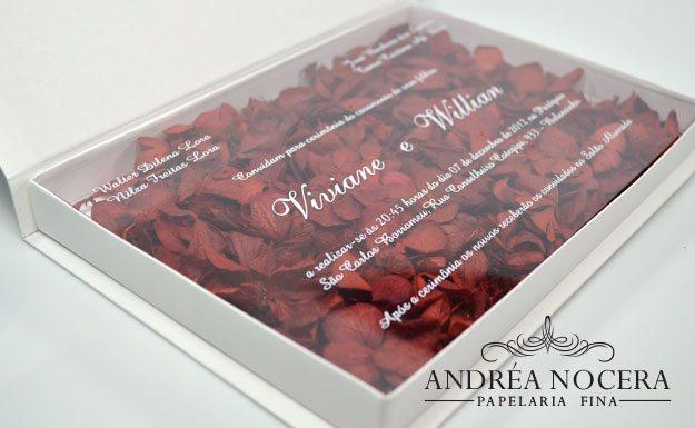 Convite de Casamento Modelo Box