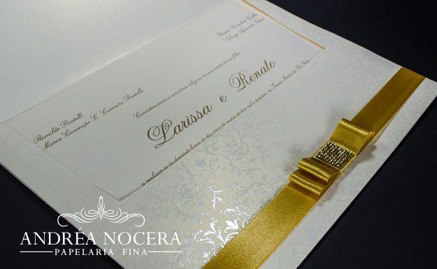 Convite de Casamento Clássico com brasão