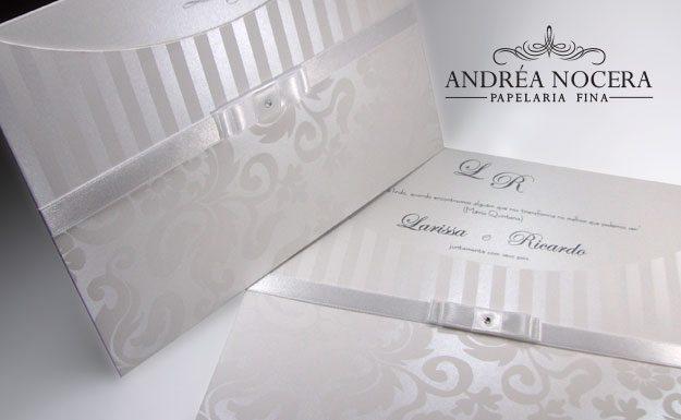 Convite de Casamento Perolado