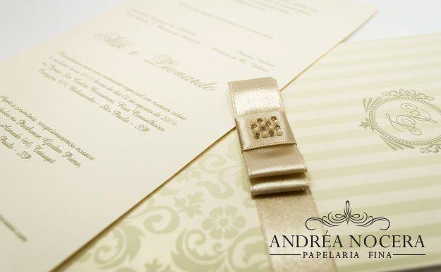 Convite de Casamento Perolado Floral