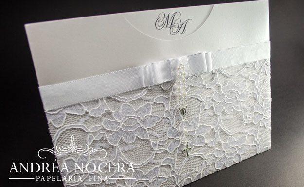 Envelope Rendado para Casamento