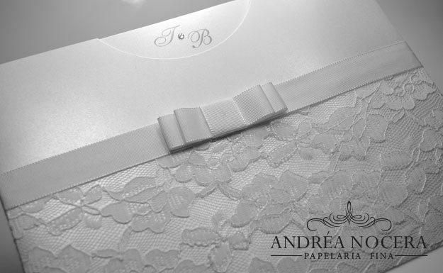 Envelope Rendado - Convite de Casamento com renda