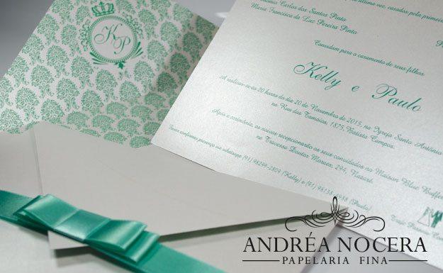 Convite de Casamento com forro