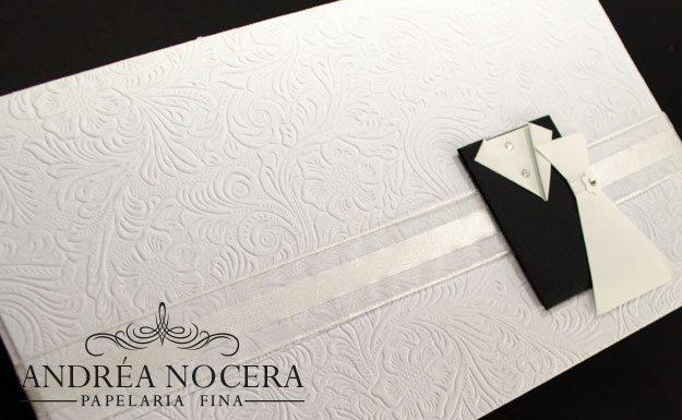 Convite de Casamento com papel texturizado