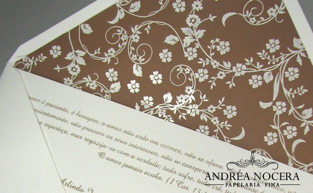 Convite de Casamento Floral Clássico