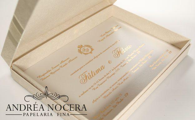 Convite de Casamento de Caixa