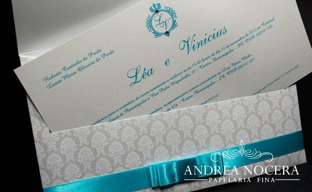 Convite de Casamento Azul Tiffany