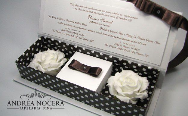 Convite de Casamento com Poá e Flores