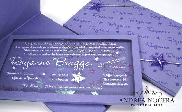 Convite de debutante com Estrelas