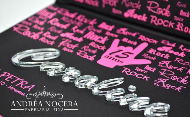 Convite Tema Rock