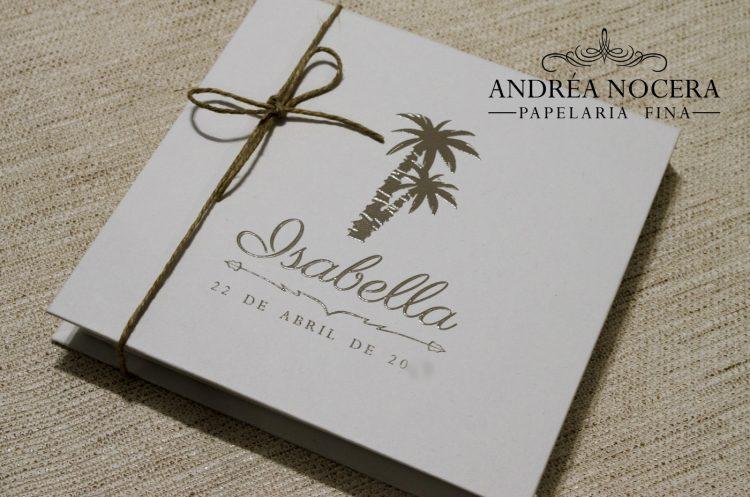 Convite de debutante praia