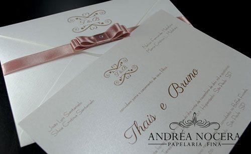 Convite Clássico para Casamento - Atelier Andréa NoceraConvite Clássico para Casamento - Atelier Andréa Nocera