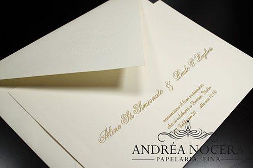 Convite Clássico para Casamento