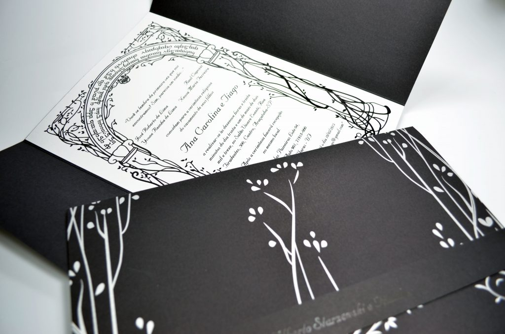 Convite de Casamento - Senhor dos Anéis