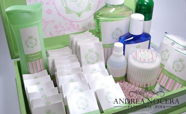Kit-Toalete Verde e Rosa