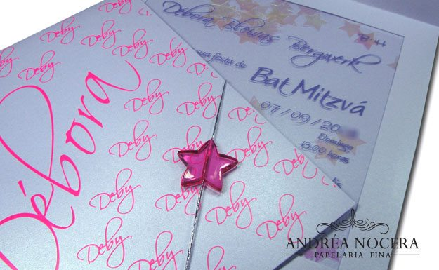 Convite de Debutante Lilás e Rosa