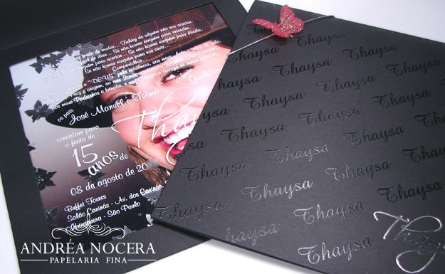 Convite com foto da debutante