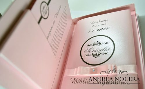 Caixa para Bíblia - Lembrancinha para Festa Debutante