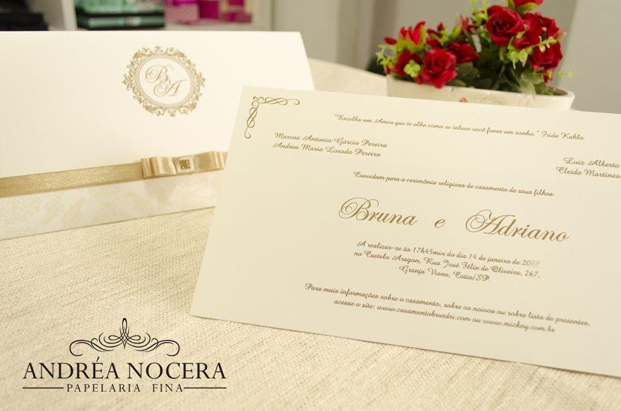 Convite de Casamento - Castelo Aragon
