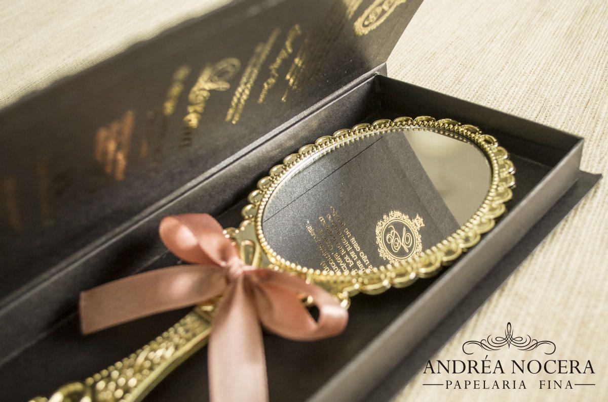 Convite de debutante tema Cinderela