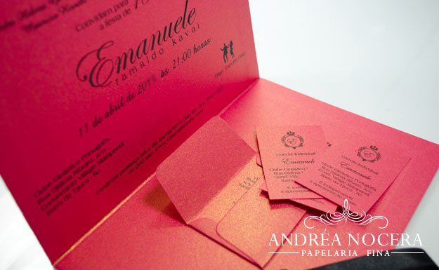 Convite de Debutante Pimenta Rosa