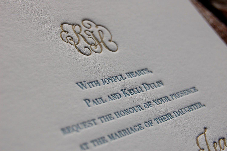 Letterpress - Convites