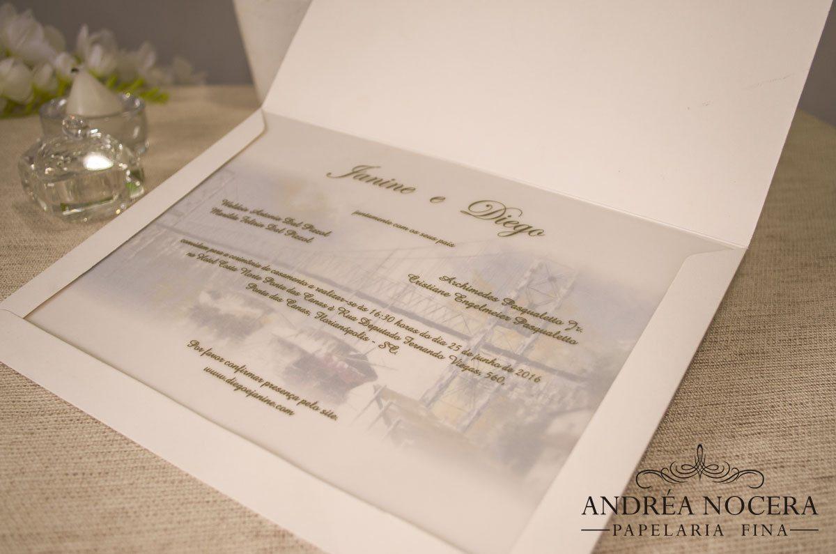 Convite de Casamento Aquarela