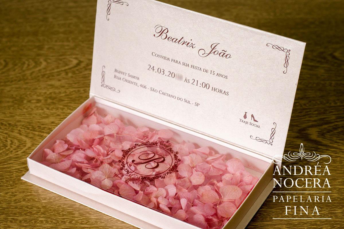 Convite de Debutante Marsala