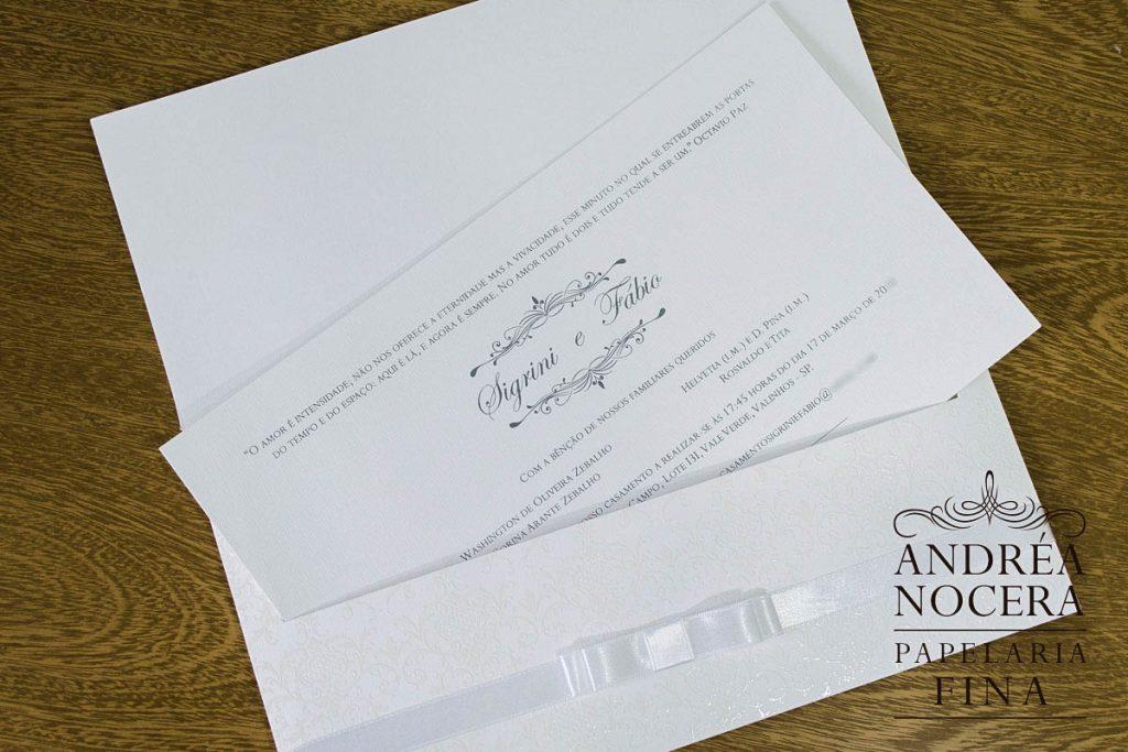 Convite de Casamento com Brasão