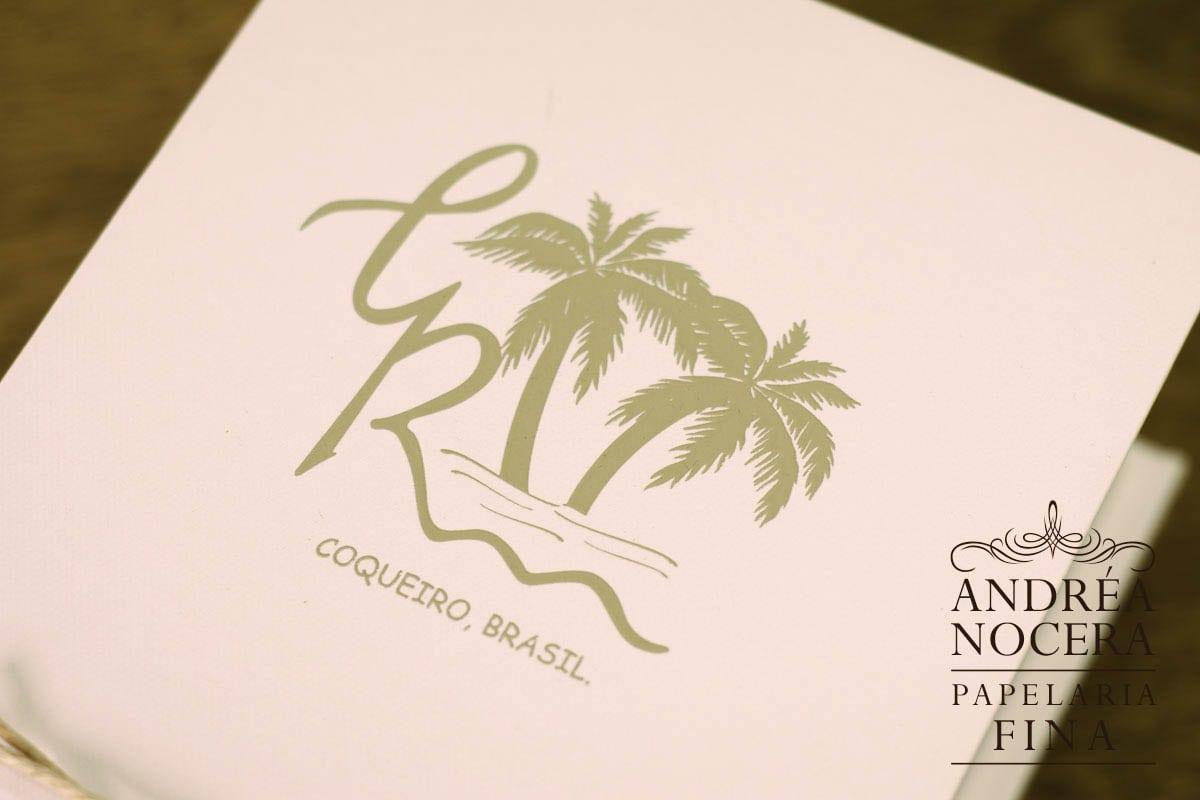 Convite de Casamento na Garrafinha - Casamento na Praia