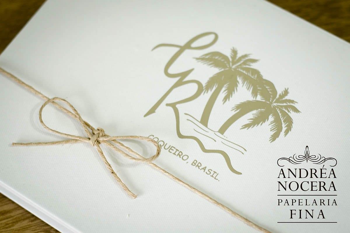 Brasão de Convite para Casamento na Praia
