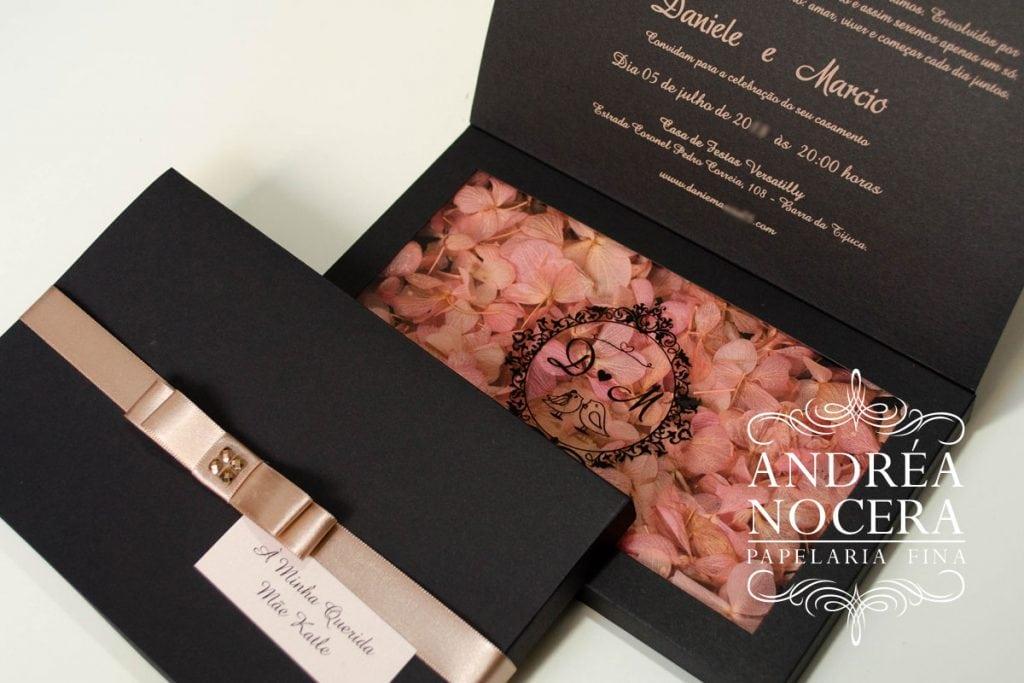 Convite de Casamento Floral e Rústico
