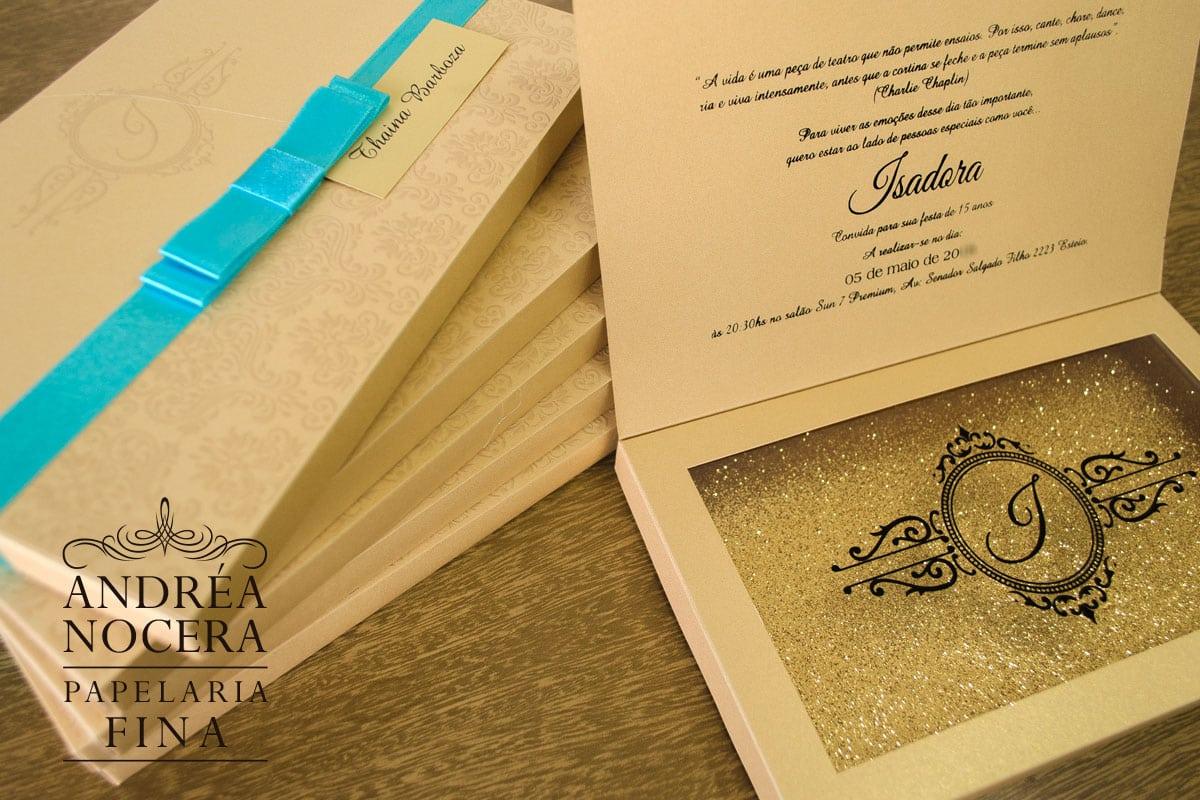 Convite de Debutante com Brasão