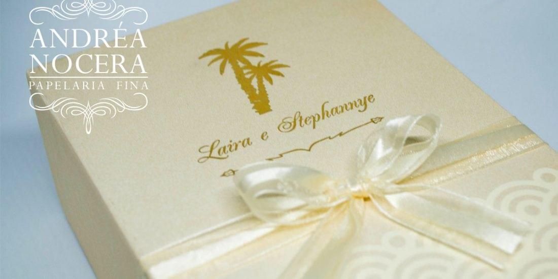 Casamento Homoafetivo na praia - Caixa para Padrinhos