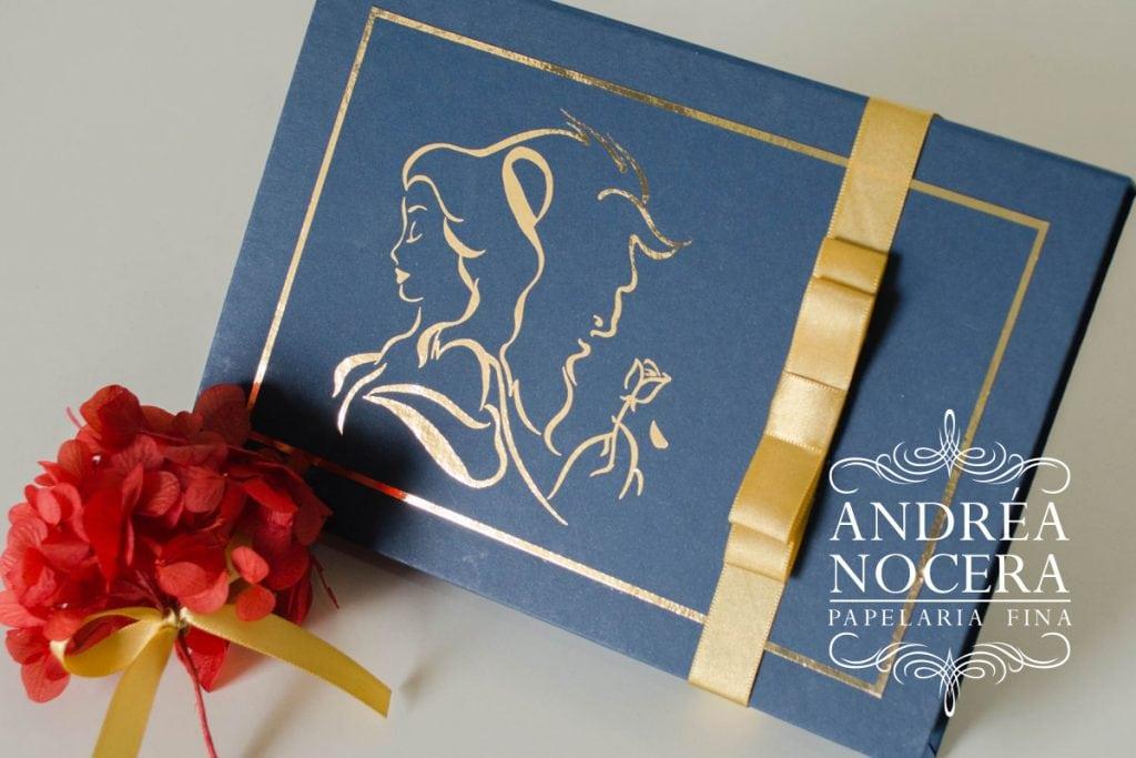 Convite de Debutante a Bela e a Fera