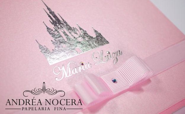 Convite de Debutante com o Castelo da Disney