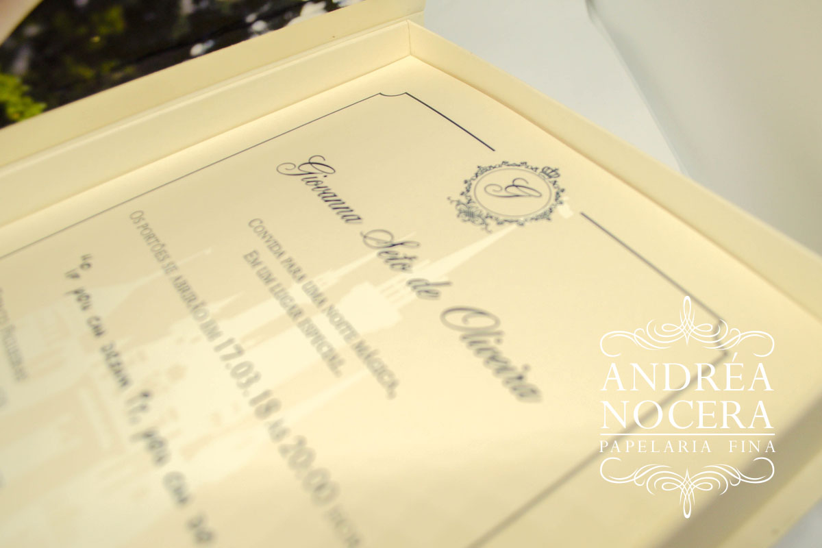 Convite de Debutante de Luxo