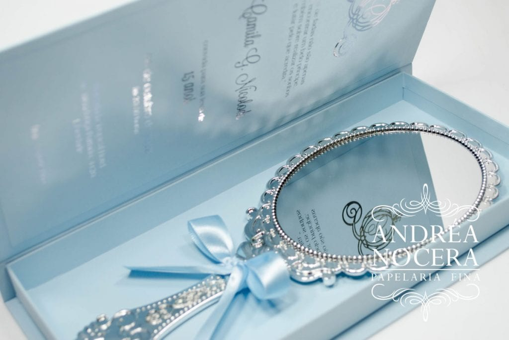 Convite Cinderela - Para festas temáticas de Debutante
