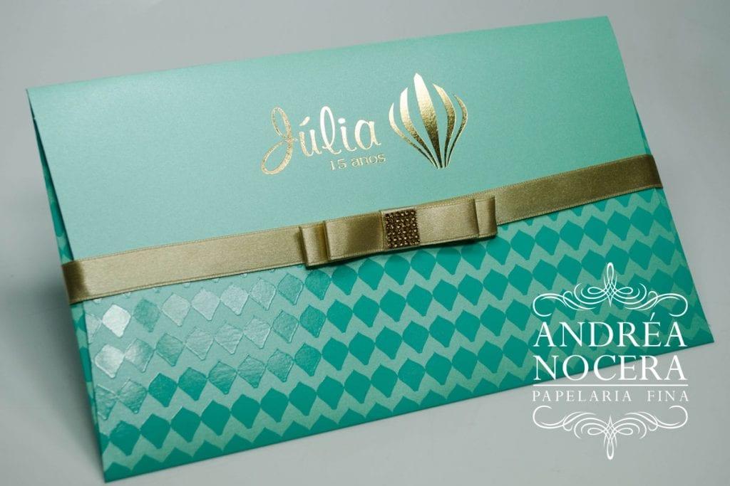 Convite de Debutante cor Tiffany