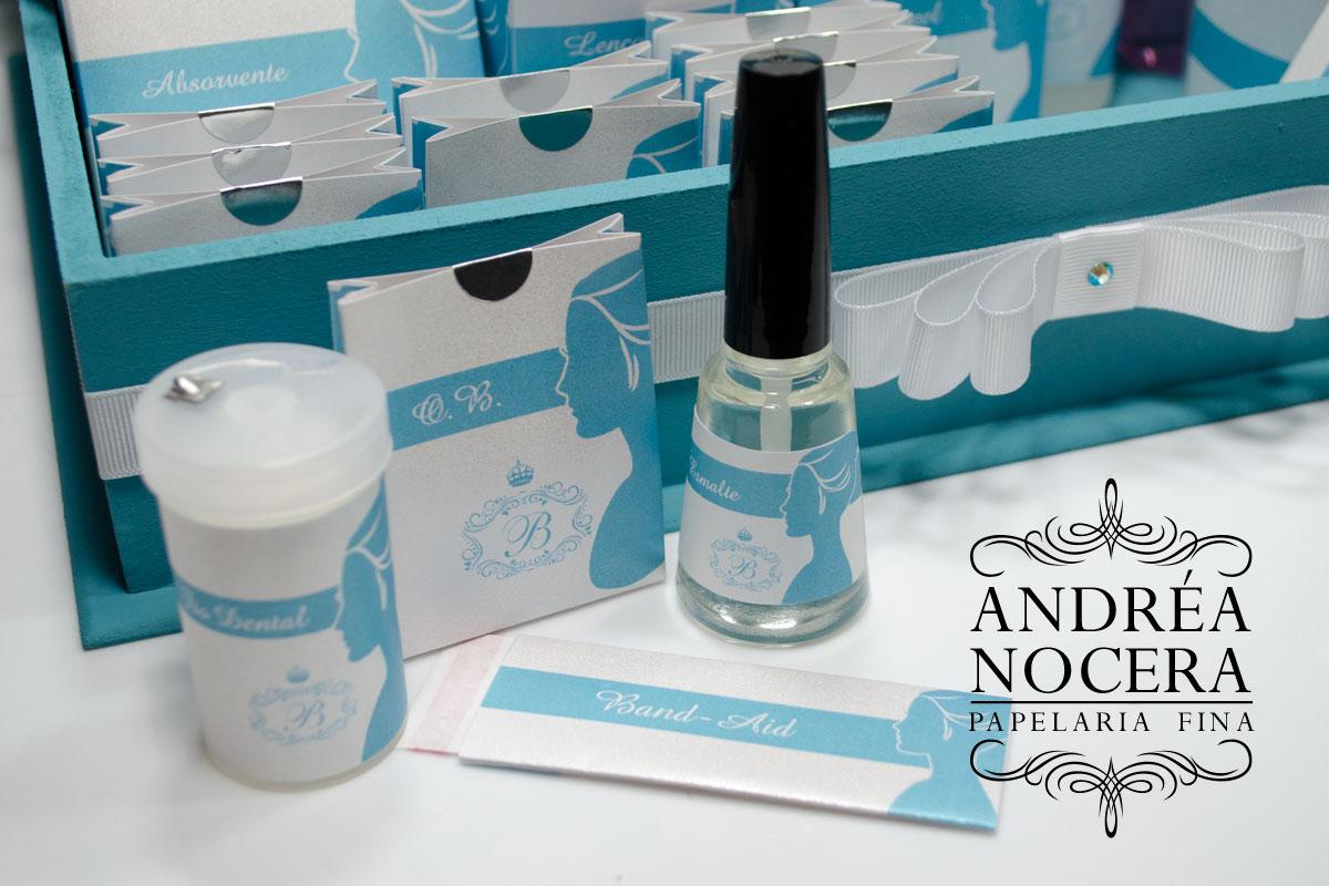 Kit-Toalete Debutante Azul e Branco