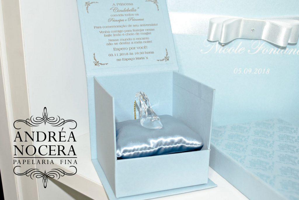 Convite de Sapatinho de Cristal