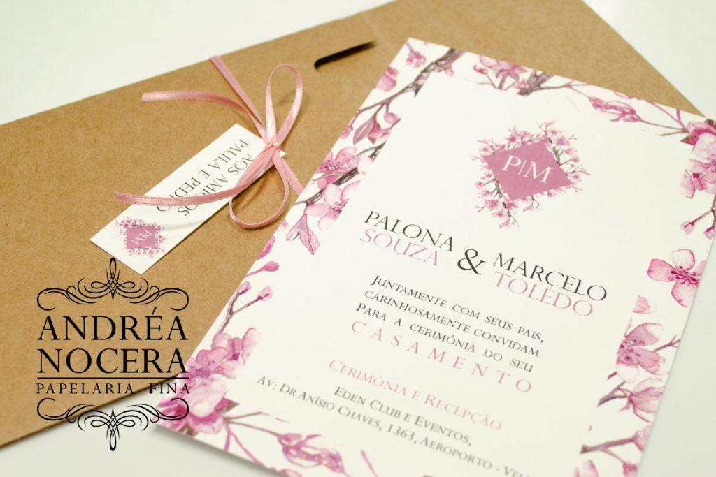 Convite de Casamento em Papel Kraft