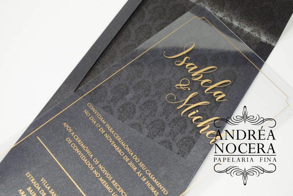Convite de Casamento com Acetato