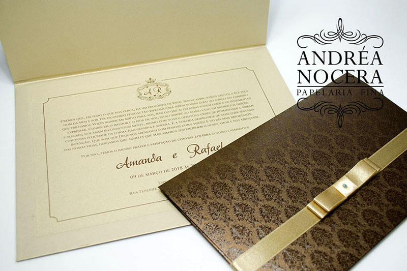 Convite Tradicional para Casamento