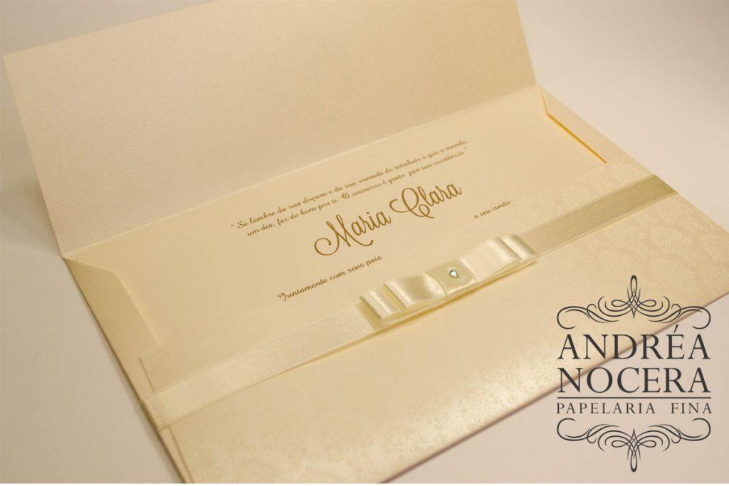 Convite de debutante ouro