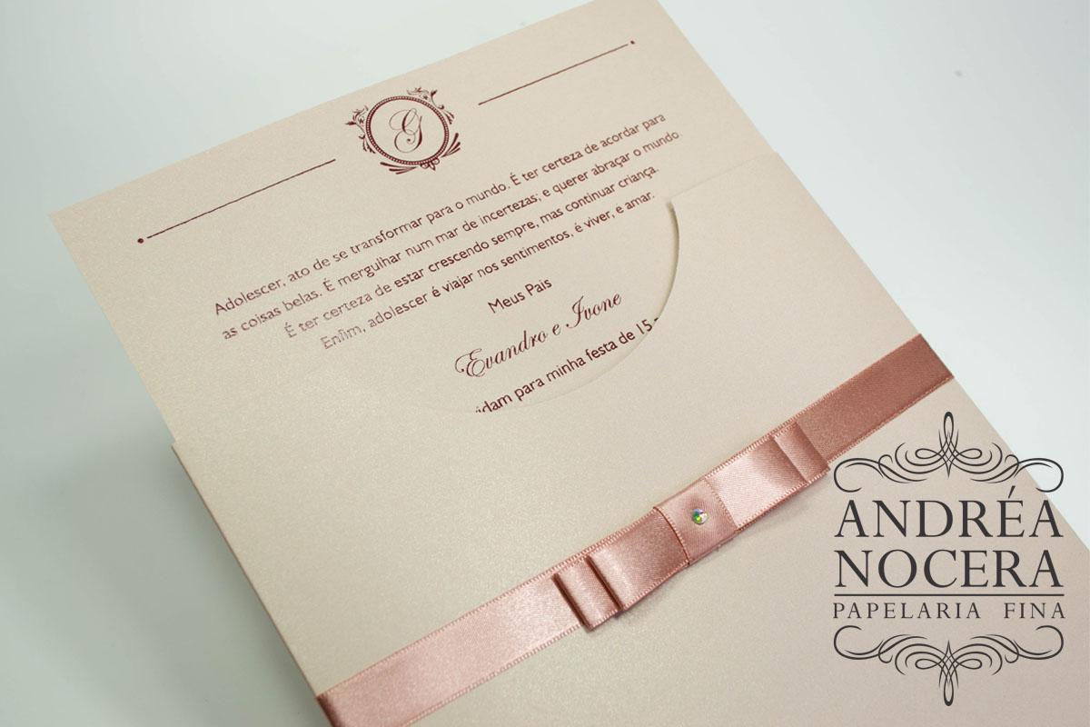 Convite de Debutante cor Rosê