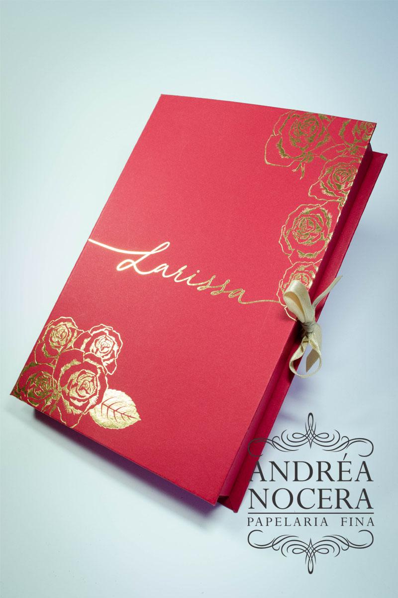 Convite de Debutante em formato de livro