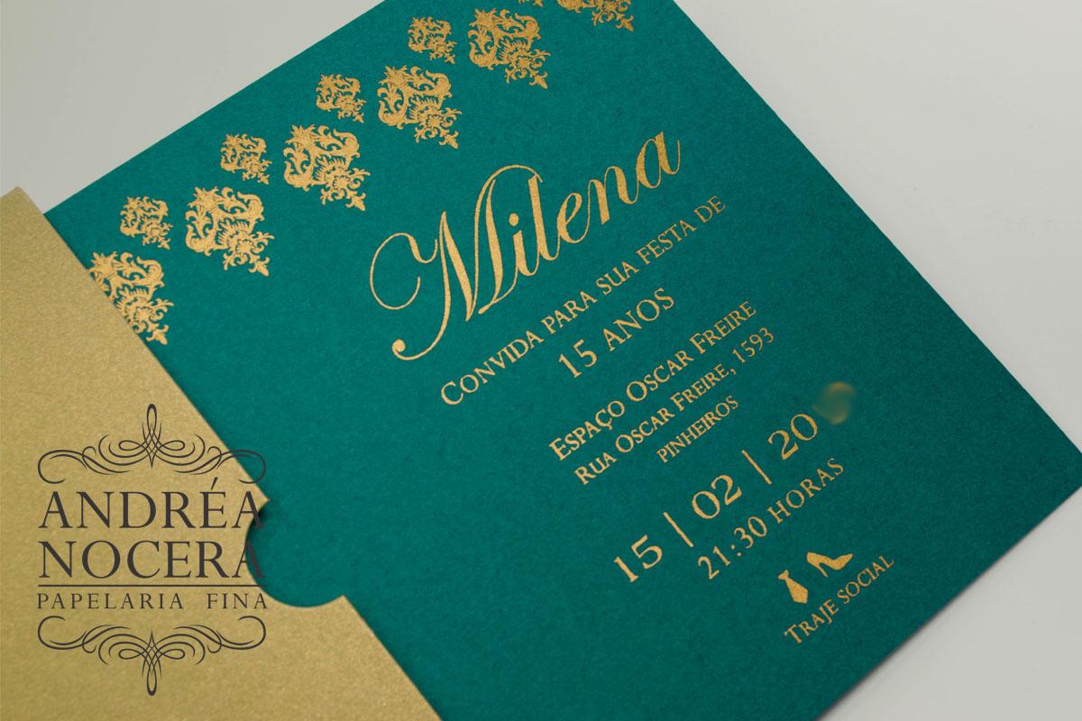 Convite de Luxo Festa Aladim